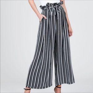 Black Classic wide-leg Pallazzo maxi pants • M
